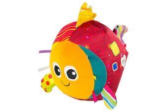 Lamaze Rolling Rosa Fish/Fabric Soft Toy/Plush Baby/Kids/Infant w/ Chimes/Sounds