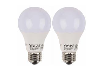 2PK Vivitar 75W E27 Smart Bulb MultiColoured LED Light iOS/Android/WiFi Control