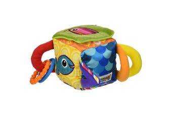 Lamaze Clutch Cube Crinkle/Jingle/Mirror Plush/Soft Toy/Game for Baby/Toddler