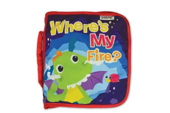 """Lamaze Flip Flop Dragon """"Where's My Fire"""" Soft Fabric Book/Toy for Baby/Toddler"""