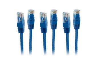 3x Pro2 40m Blue Cat 6 Cat6 RJ45 Ethernet Internet Network LAN Patch Cable Lead