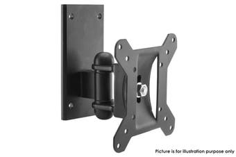 "LCD LED TV Swivel & Tilt Single Stud Wall Mount Bracket 15-24"" Up To 20Kg Black"