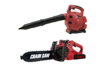 Gem Toys Little Helper Electric Power Tool Safety Chainsaw/Leaf Blower Kids 3y+