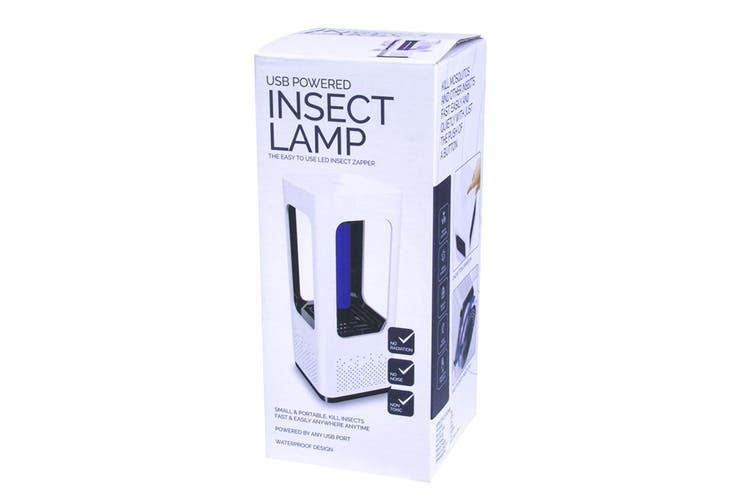 USB Powered Insect Lamp Killer/Zapper Indoor/Outdoor Light/Trap Bug Catcher WHT