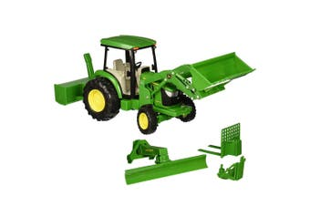 John Deere 1:16 4066R Tractor w/ Loader/Snow Blower/Blade/Lights/Sound Kids Toy