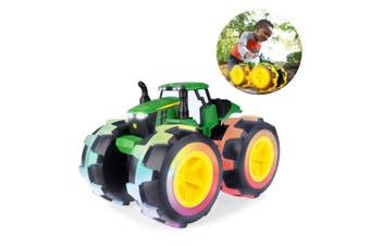 John Deere Monster Treads Lightning Wheels 4WD Tractor/Truck Toy w/ Lights/Sound