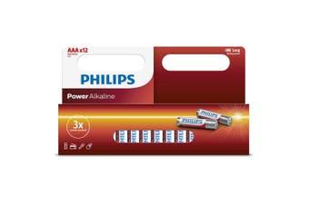 12PK Philips AAA Alkaline Single Use Battery 1.5V LR03/ Long Lasting Batteries