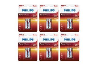 12PK Philips LR03P2B/97 AAA Power Alkaline Battery LR03 Micro 1.5V Long Lasting