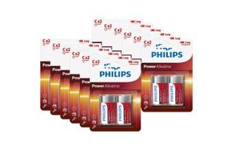 24PK Philips C Alkaline Single Use Battery 1.5V LR14 Long Lasting Batteries