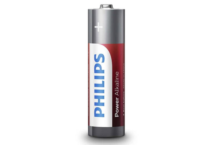 96PK Philips AA Alkaline Single Use Battery 1.5V LR6 Long Lasting Batteries