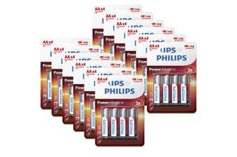 48PK Philips AA Alkaline Single Use Battery 1.5V LR6 Long Lasting Batteries