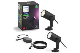 Philips Hue Outdoor Spot Light LED Lighting Garden/Walkway w/ Extension Kit