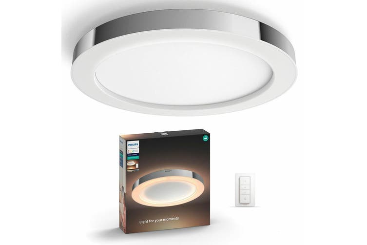 Philips Hue Adore Bathroom Ceiling Light Ambiance Round Dimmable Control Chrome