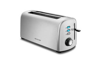 Maxim KitchenPro 4 Slice/Slots Automatic Bread Toaster Stainless Steel Silver
