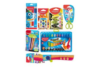Maped Kids Craft Showbag w/Sharpener/Scissors/Colouring Pencils/Markers/Crayons