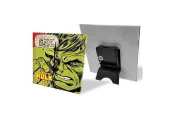 Hulk Analogue Glass Desk Clock Analog Display Character Table Home Decor Green