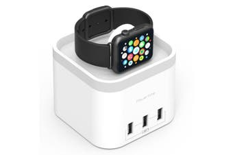 PowerTime Apple Watch Charging Dock w/ 3 USB Charging Ports for iPhone/Android