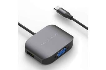 Mbeat Elite Mini - USB-C to VGA/USB-A 2.0/USB-A 3.0 Port Adapter Hub/Splitter