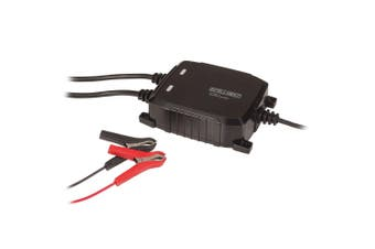 Powertech 12V 8A Marine 8 Step IP68 Battery Charger w/ Dual Output/Clips Black