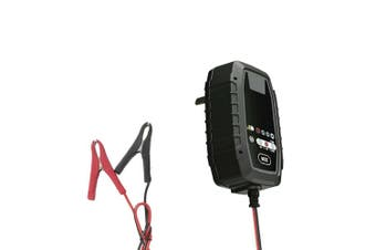 Powertech 6V/12V 800MA Intelligent Lead Acid/Lithium/LiFeP04 Battery Charger
