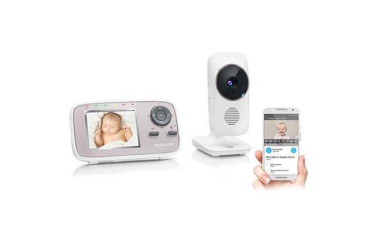 "Motorola 2.8"" Wireless Wi-Fi Baby Video Monitor/2-way Audio/Night Vision Camera"