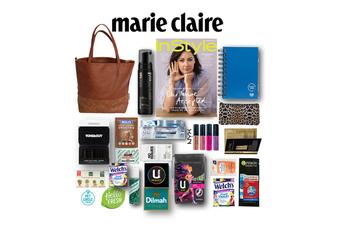 20pc Marie Claire Showbag for Women Magazine/Handbag/Clutch/Dry Shampoo/Notebook