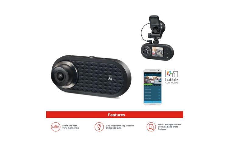 Motorola Dual Lens Front/Rear Car Dash Cam Camera Full HD 1080P/Wifi/GPS Tracker