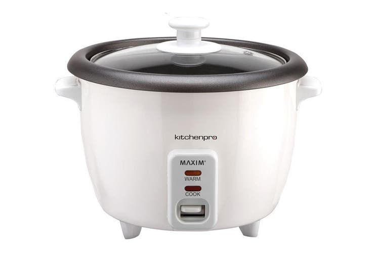 Maxim Kitchen Pro 1.8L/10 Cup Electric Rice Cooker/Cooking Non-Stick Pan White