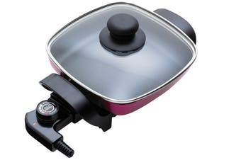 20cm Electric Frypan/Thermostat control/Non-stick Coated/Coating Plate/Fry Pan