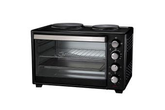 Maxim KitchenPro 30L Electric Portable Table Oven/Roaster w/ Hot Plates/Handle