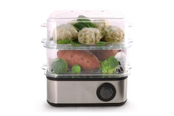 Maxim 500W Electric Mini Eggs/Vegetable/Dim Sims/Dumpling Multi Steamer Cooker