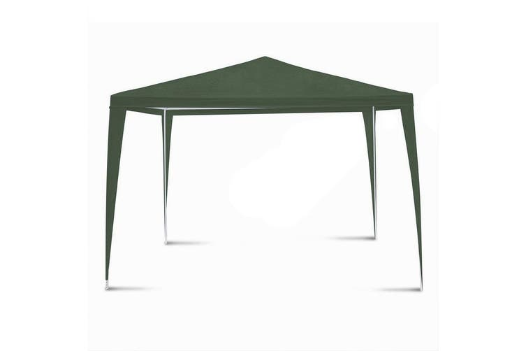 Hacienda 3x3m Marquee Pop Up Gazebo Tent Picnic/BBQ/Garden/Backyard/Party Green