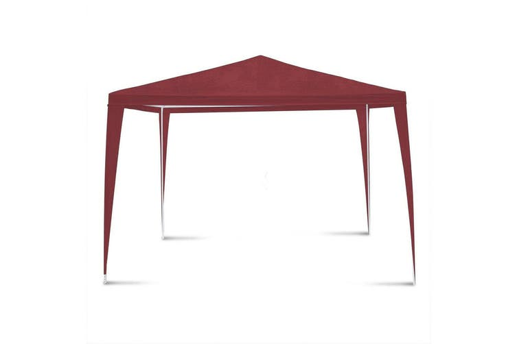 Hacienda 3x3m Marquee Pop Up Gazebo Tent Picnic/BBQ/Garden/Backyard/Party - Red