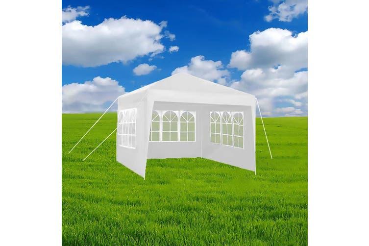 Hacienda 3x3m Marquee Gazebo Tent w/4 Walls Picnic/Garden/Backyard/Party White