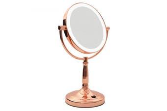 Homedics Vanity Bathroom Makeup Beauty Mirror LED Light/7x Magnification/2 Sided