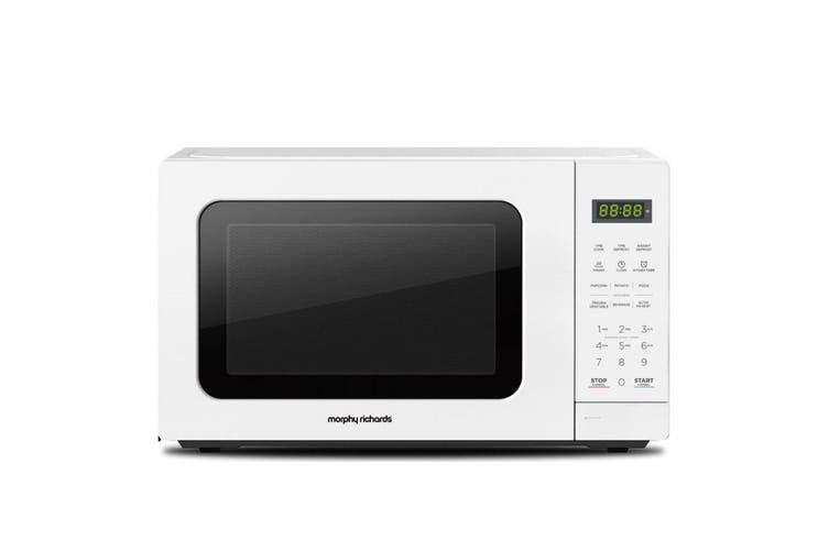 Morphy Richards 20L 750W Countertop LED Digital Cook/Heat/Defrost Microwave WHT