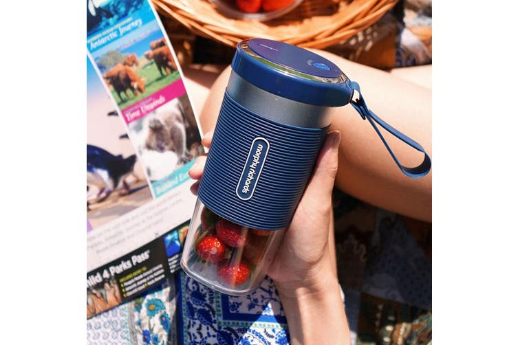 Morphy Richards 300ml Personal Smoothies/Fruits/Vegetable Handheld Blender Blue