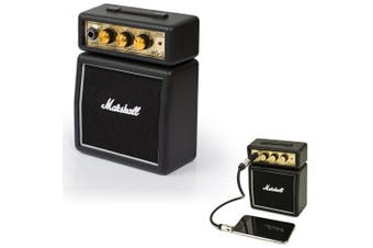 Marshall MS-2 Black Portable Micro Amplifier Amp Speaker for iPhone/iPod/Samsung