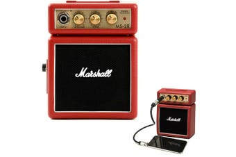 Marshall MS-2R Red Portable Micro Amplifier Amp Speaker f/ Guitar/iPhone/Samsung
