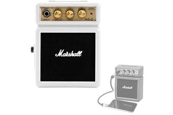 Marshall MS2W Portable Micro Amplifier Amp Speaker for iPhone/iPod/Samsung White