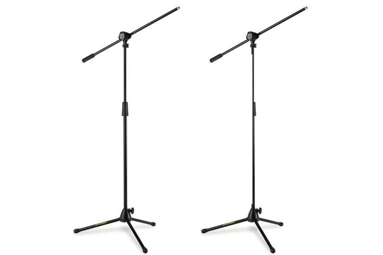 2x Hercules Stage Series Microphone Tripod Base Stand/Holder Studio Adjustable