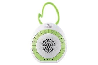 Homedics MyBaby SoundSpa/Music On The Go Speaker for Stroller/Pram White/Green