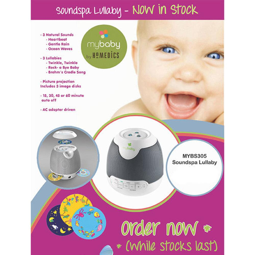 Homedics My Baby SoundSpa Lullaby Projector for Baby//Infant Sleep Sound w// Timer