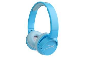 Altec Lansing Kids Friendly Bluetooth On-Ear Headphones Over Ear Headset Blue