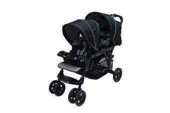 Veebee Doubletake Pram/Tandem Twin Stroller f/ Baby/Infant/Toddler Salt & Pepper