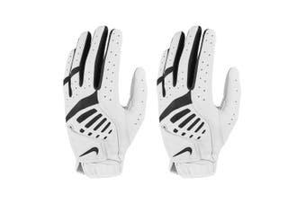 2x Nike Womens IX Golf Dura Feel Training/Sports Left Handed Glove Large White