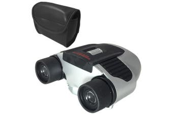 Panaview RadioScope Binoculars w/ Built-In AM/FM Radio 8x20mm Magnify/Zoom