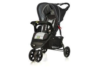 Veebee Navigator Lightweight Stroller/Pram Newborn Baby/Toddler/Silverado Black