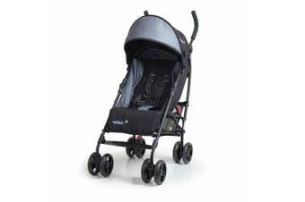 Vee Bee Pixie Foldable Stroller/Pram for Baby/Infant/Toddler/Recline/ Black/Grey