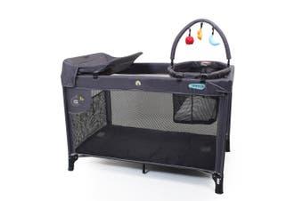 Veebee Sierra Baby/Newborn Foldable/Portable Cot w/ Bassinet/Bag/Toy-bar Navy